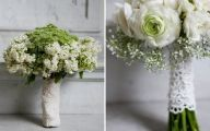 Green Flowers Wedding 2 Background Wallpaper