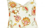 Red Flower Throw Pillows 9 Background