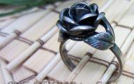 Black Flower Blossom Band 30 Wide Wallpaper
