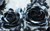 Black Flowers Artificial 37 Hd Wallpaper