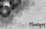 Black Flowers Song 48 Background