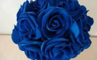 Blue Flowers Artificial 29 Wide Wallpaper