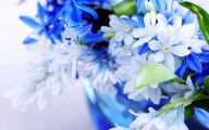 Blue Flowers Background 22 High Resolution Wallpaper