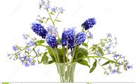 Blue Flowers Bouquet 19 Background Wallpaper