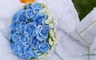 Blue Flowers Bouquet 23 Background Wallpaper