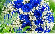 Blue Flowers Bouquet 25 Desktop Wallpaper