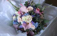 Blue Flowers Bouquet 27 High Resolution Wallpaper