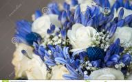 Blue Flowers Bouquet 6 High Resolution Wallpaper