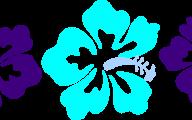 Blue Flowers Clip Art 10 Widescreen Wallpaper