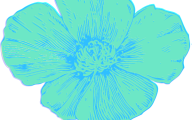 Blue Flowers Clip Art 17 Background Wallpaper