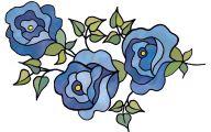 Blue Flowers Clip Art 18 Background Wallpaper