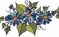 Blue Flowers Clip Art 33 Desktop Background