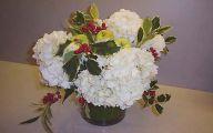 Green Flowers Arrangements 23 Background Wallpaper
