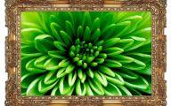 Green Flowers Art 10 Desktop Wallpaper
