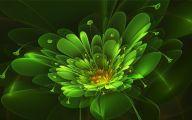 Green Flowers Art 11 Free Hd Wallpaper
