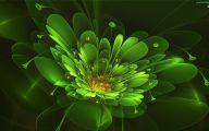 Green Flowers Art 13 Background Wallpaper