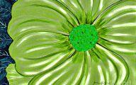 Green Flowers Art 2 High Resolution Wallpaper