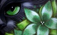 Green Flowers Art 37 Desktop Wallpaper
