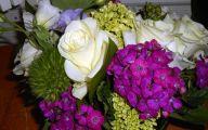 Lovely Lady Purple Flowers 20 Widescreen Wallpaper
