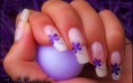 Lovely Lady Purple Flowers 34 Background Wallpaper