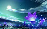Lovely Lady Purple Flowers 4 Desktop Background