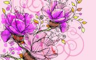 Pink Flowers Background 3 Free Wallpaper