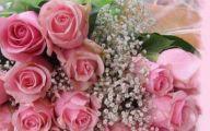 Pink Flowers Bouquet 11 Wide Wallpaper