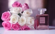 Pink Flowers Perfume 3 Free Hd Wallpaper
