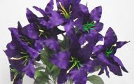 Purple Flowers Artificial 17 Widescreen Wallpaper