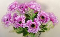 Purple Flowers Artificial 5 Widescreen Wallpaper