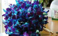 Purple Flowers Bridal Bouquet 17 Background Wallpaper