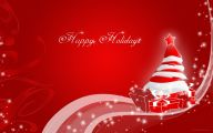 Red Flowers Around Christmas 33 Background Wallpaper