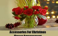 Red Flowers Around Christmas 8 Hd Wallpaper