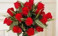 Red Flowers Bouquet 11 Background Wallpaper