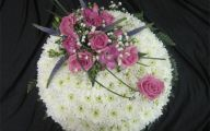 White Flowers At Funeral 1 Widescreen Wallpaper