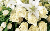 White Flowers At Funeral 3 Cool Hd Wallpaper