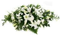 White Flowers At Funeral 6 High Resolution Wallpaper