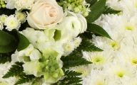 White Flowers At Funeral 8 Widescreen Wallpaper