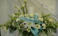 White Flowers At Funeral 9 Widescreen Wallpaper