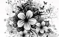 Black And White Floral Wallpaper 10 Background