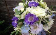 Blue Flowers July  18 Wide Wallpaper