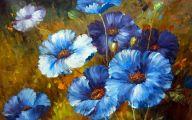 Blue Flowers Painting  13 Desktop Wallpaper