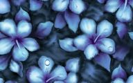 Blue Flowers Painting  28 Cool Wallpaper