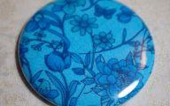 Blue Mirror Flowers 9 Free Wallpaper