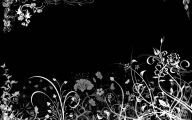 Floral Wallpaper With Black Background 5 Wide Wallpaper