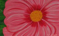 Pink Flowers Canvas  10 Widescreen Wallpaper