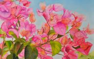 Pink Flowers Canvas  11 High Resolution Wallpaper