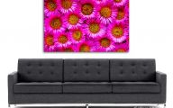 Pink Flowers Canvas  21 Background