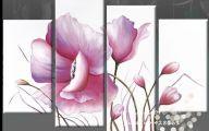 Pink Flowers Canvas  23 Widescreen Wallpaper
