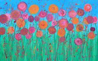 Pink Flowers Canvas  24 Wide Wallpaper